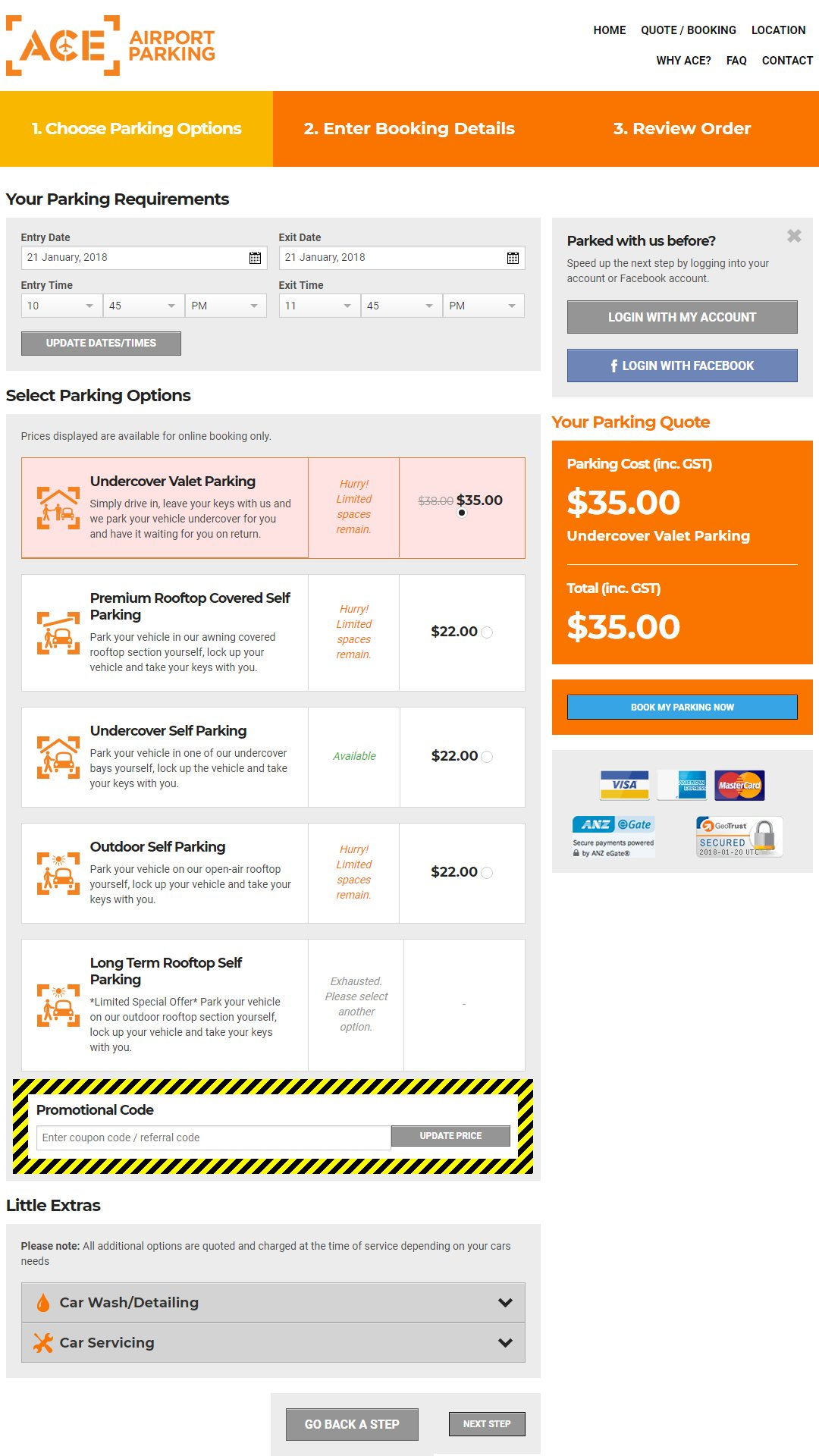 Ace Airport Parking Voucher Codes And Discount Codes