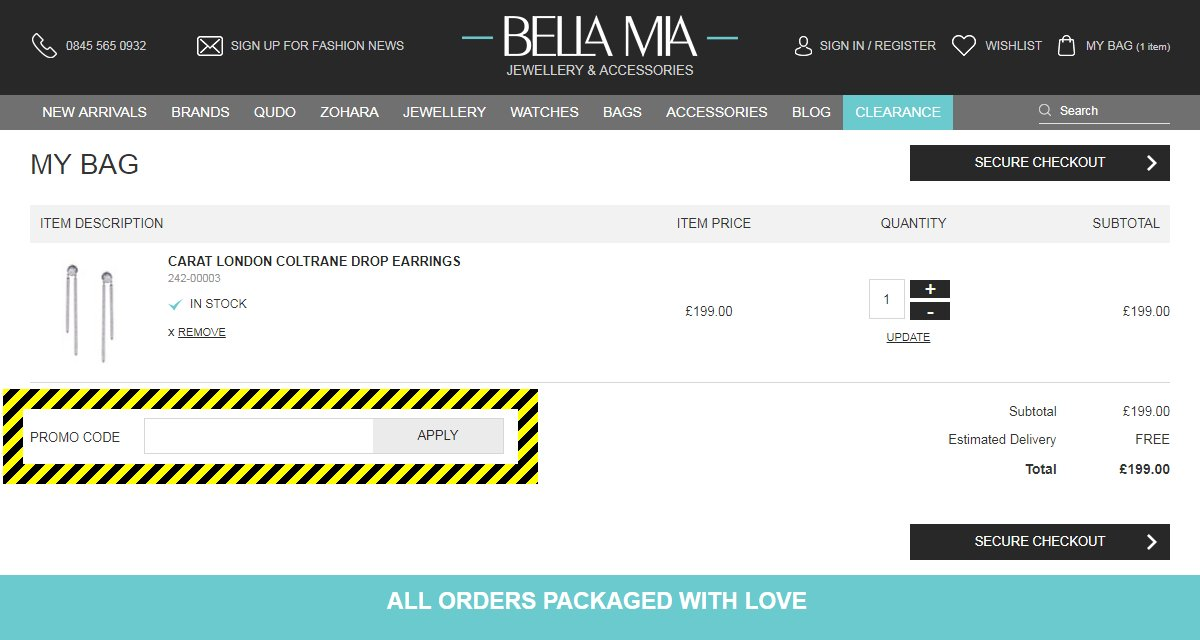 Bella Mia Boutique Discount Code