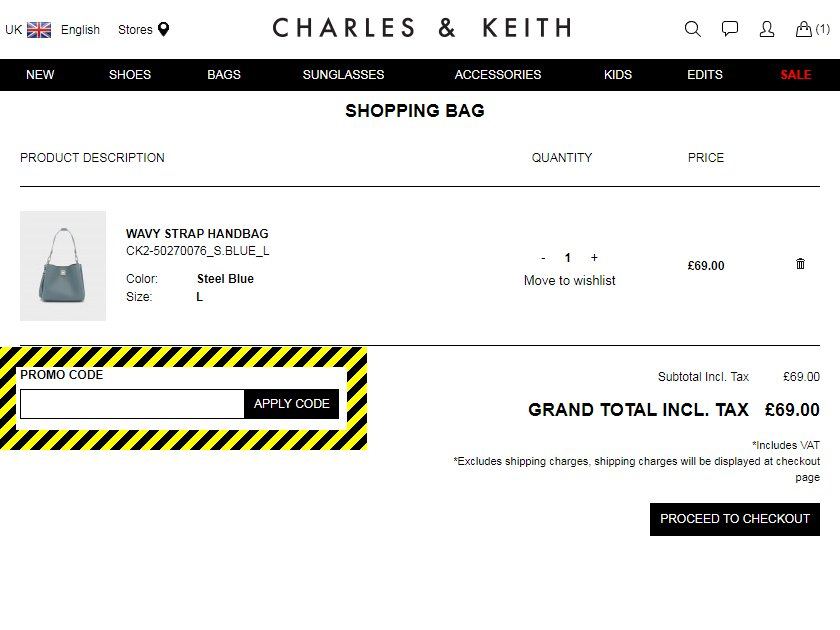 Charles & Keith Discount Code