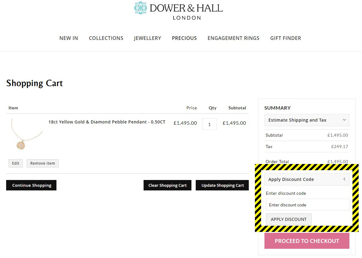 Dower & Hall Discount Code