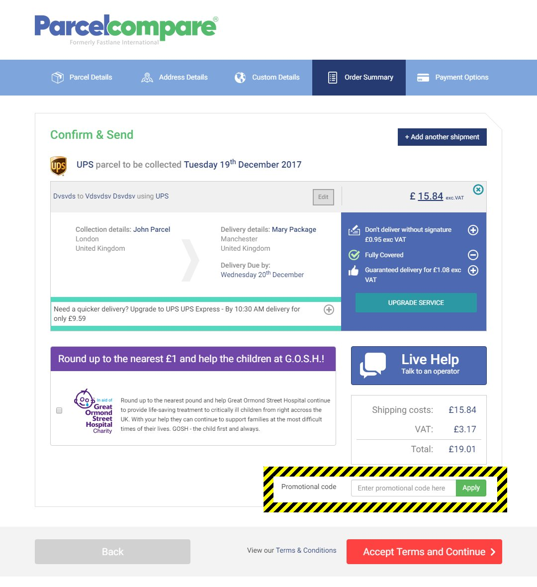 Parcelcompare Discount Code