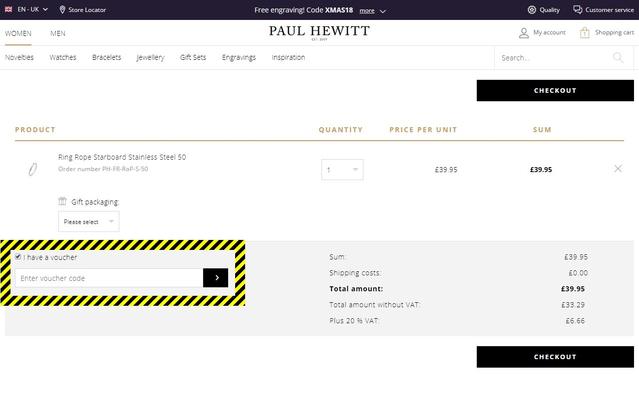 Paul Hewitt Discount Code
