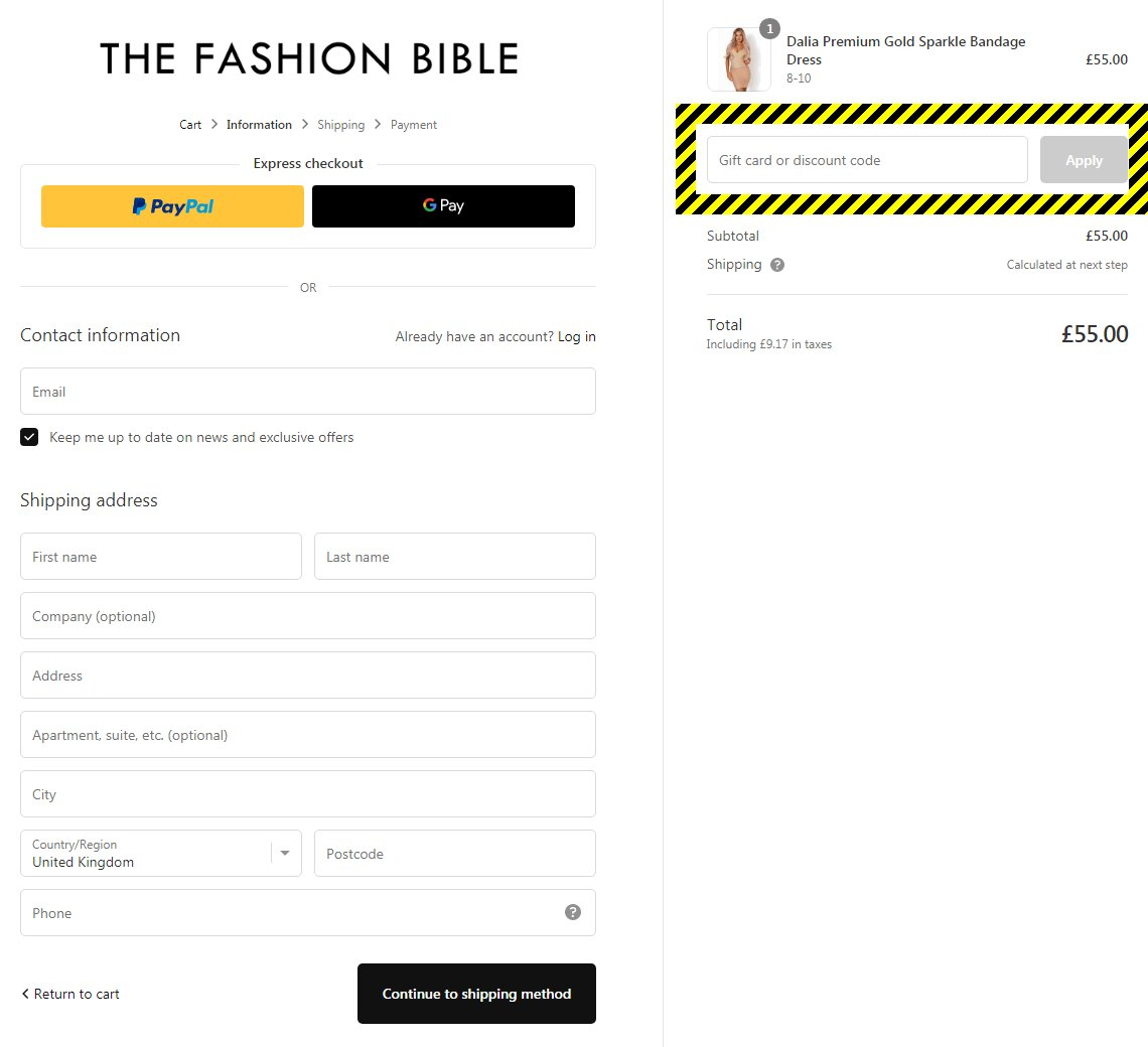 The Fashion Bible Discount Code