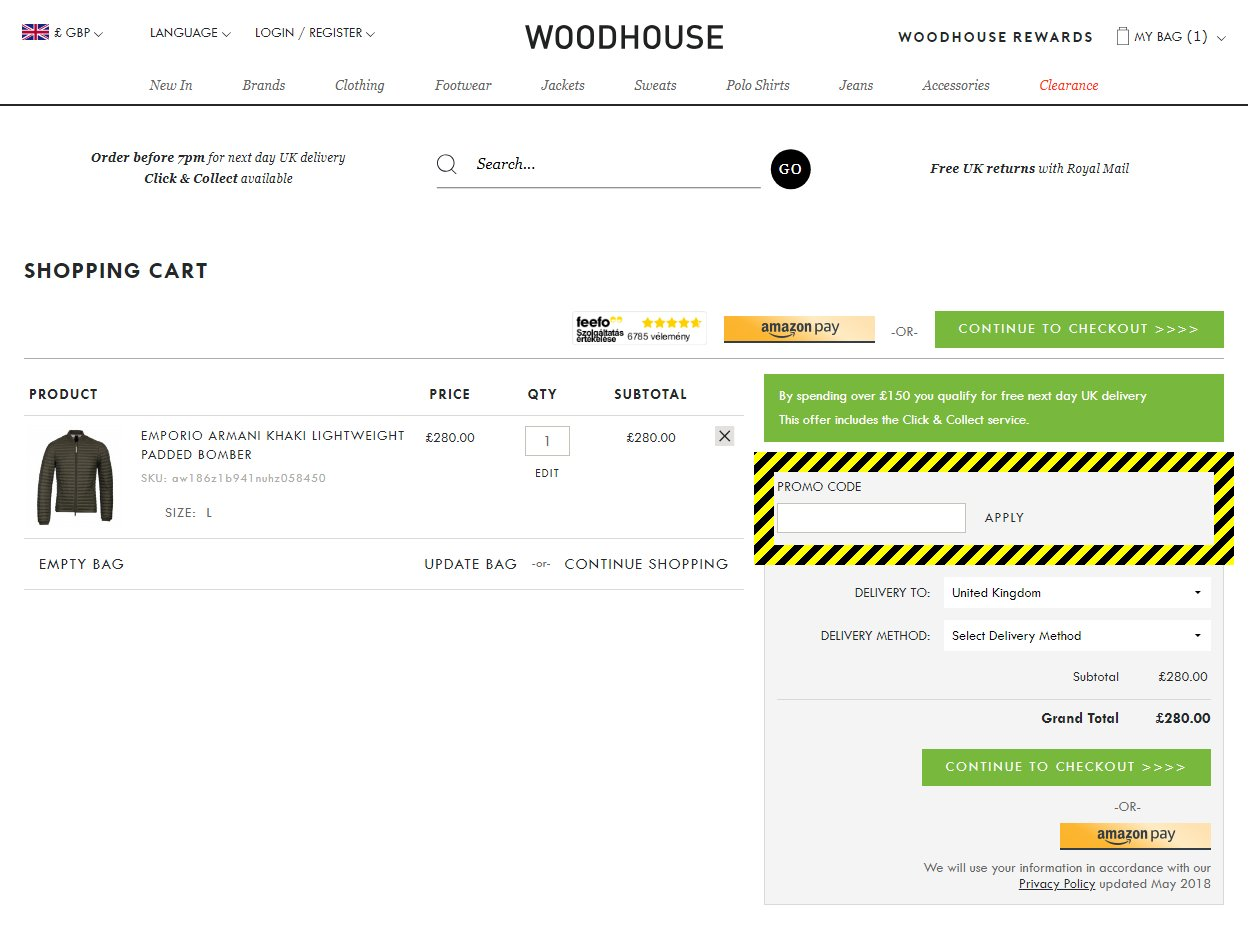 Woodhouse Clothing Discount Code